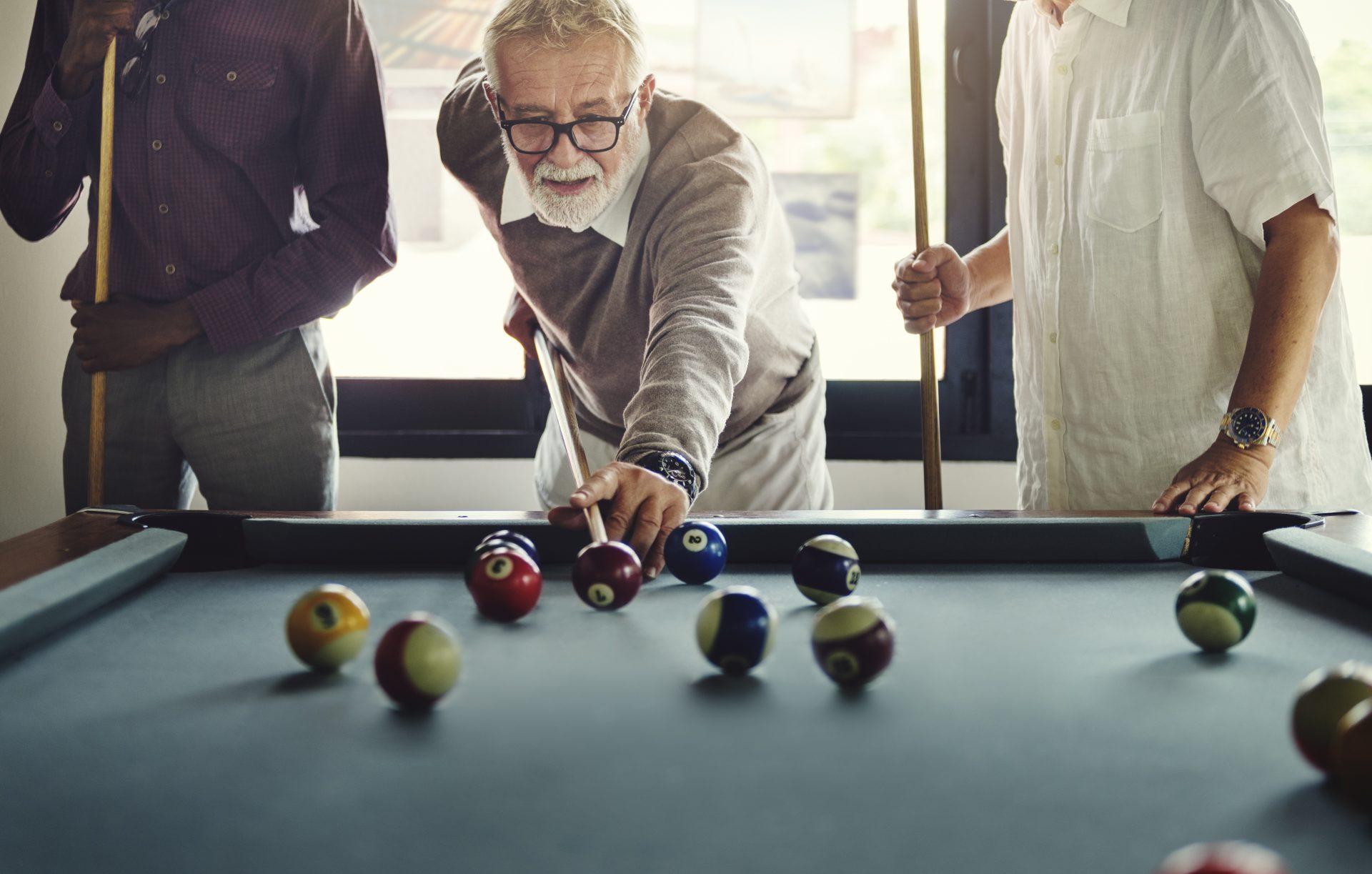 Seniors Playing Pool