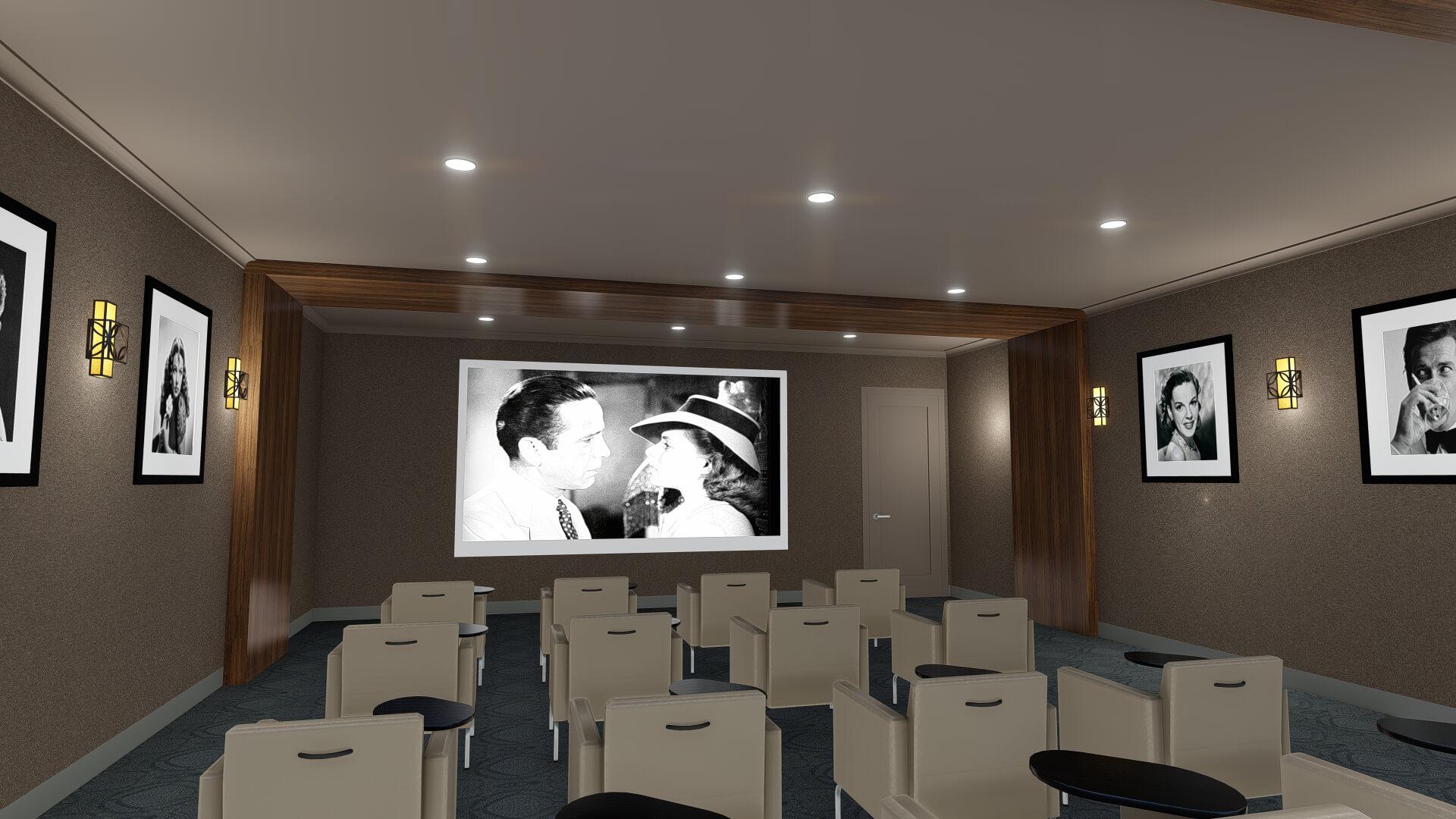 Movie Theater Rendering